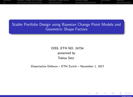 Stable Portfolio Design using Bayesian Change Point Models and Geometric Shape Factors