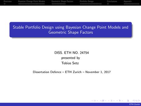 Stable Portfolio Design using Bayesian Change Point Models and Geometric Shape Factors