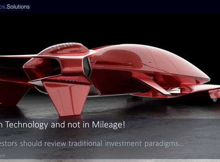 """""""Invest in Technology and not in Mileage!"""""""