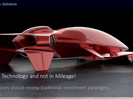 """Invest in Technology and not in Mileage!"""