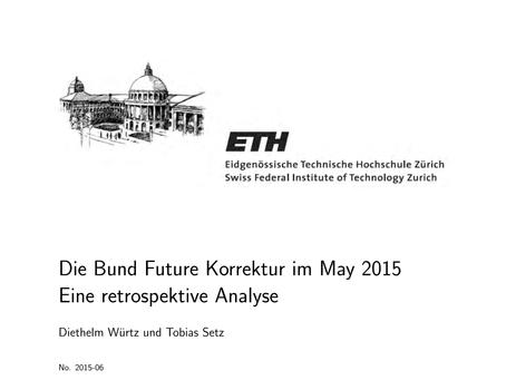 Die Bund Future Korrektur im May 2015