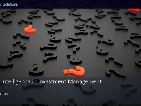 Artificial Intelligence in Investment Management - An Antithesis