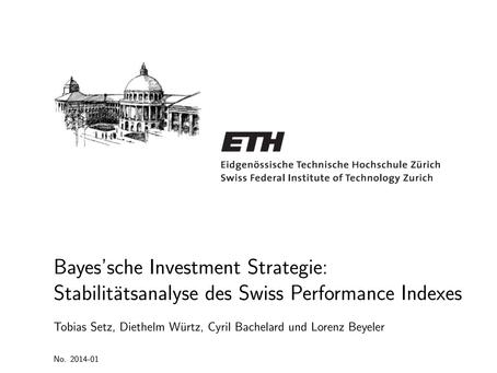 Bayes'sche Investment Strategie