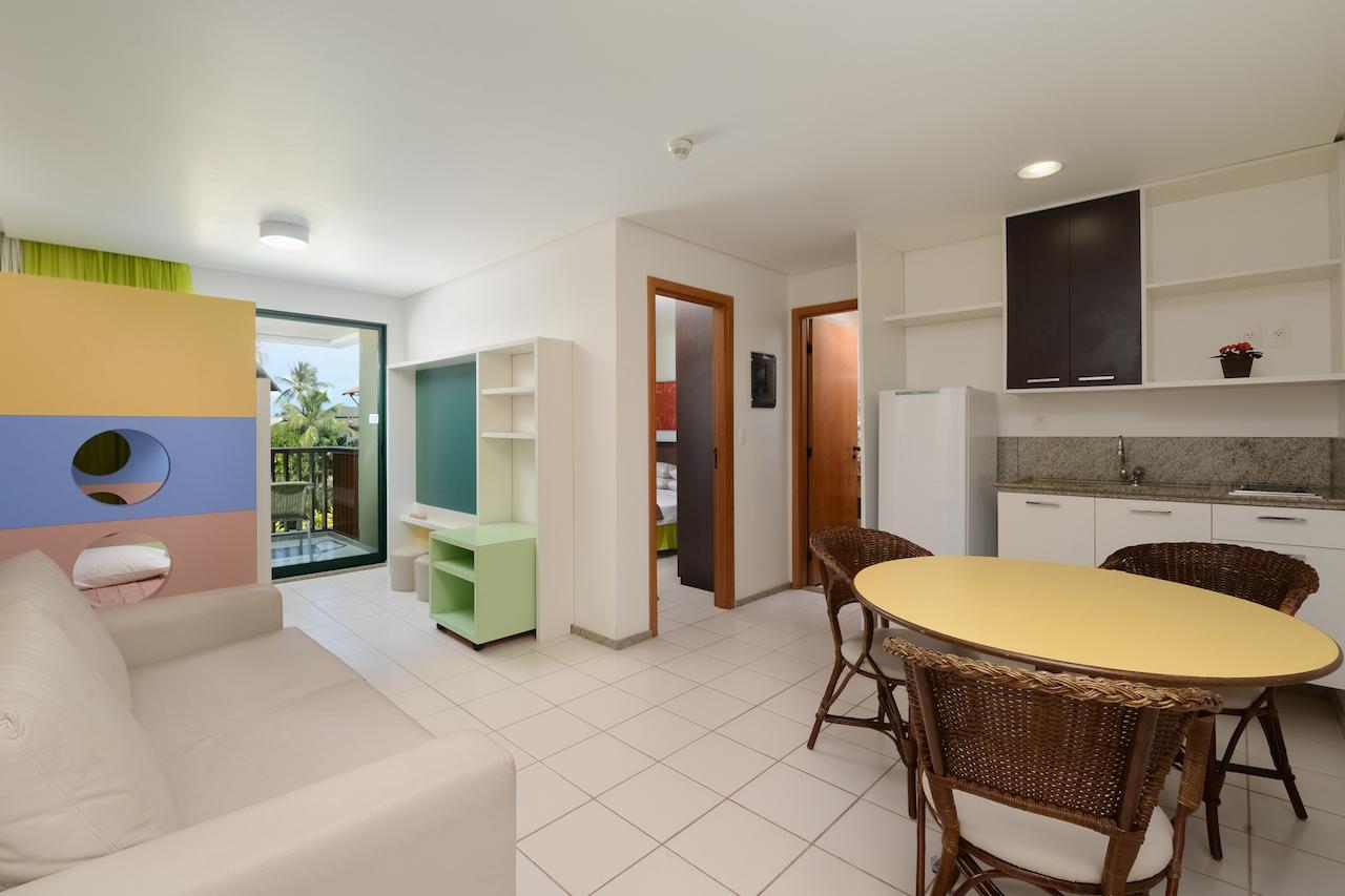 Sala de estar ampla nos apartamentos