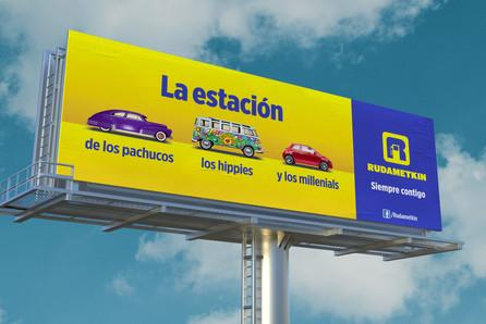 """Cartelera de la campaña """"Siempre"""" / Gasolineras Rudametkin"""