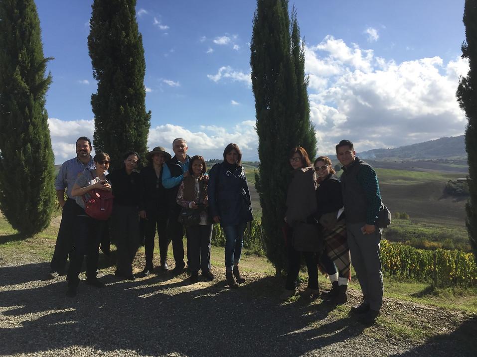 Cofradía en Montalcino, Toscania