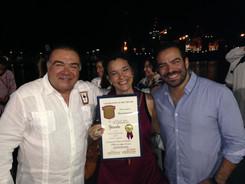 Con Alberto y Santiago López
