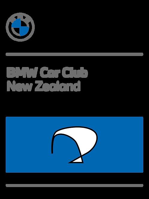 Renew BMW Car Club of New Zealand Membership Ending March 31st 2022