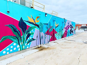 Tropical Oasis Mural - Sunnyside Diner Edmond