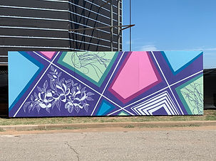 Blooming Mural - Oklahoma Contemporary Arts Center