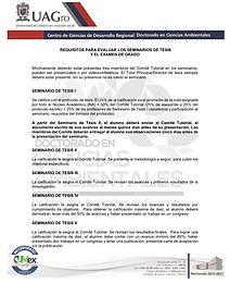 REQUISITOS PARA EVALUAR SEMINARIOS DE TE