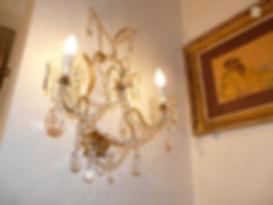 applique murale en cristal