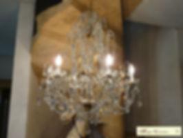 plafonnier cristal pampilles