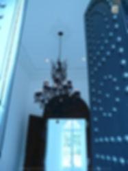 lustre noir de château à pampilles