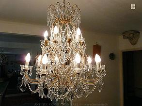 lustre pendeloques de cristal