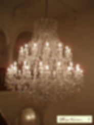 grand lustre à pendeloques cristal
