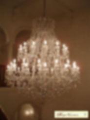 lustre en cristal de boème