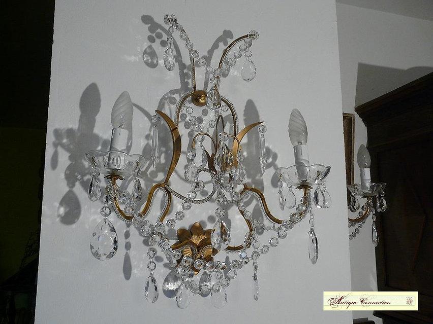 applique murale en cristal pampilles