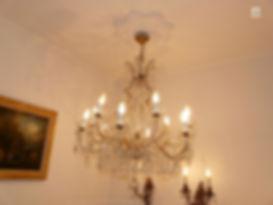 lustre à pendeloques de cristal