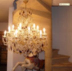 luminaire à pampilles