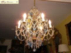 lustre cage en crystal de bohême