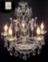 lustre bohême en cristal