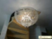 plafonnier en cristal de bohême