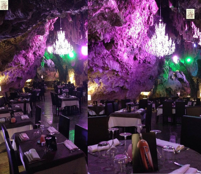 """""""Restaurant de la Grotte"""" - Vidéo & Photos du lustre en cristal"""