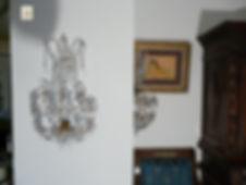 paire d'appliques murales en cristal pampilles