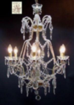 lustre cage en cristal
