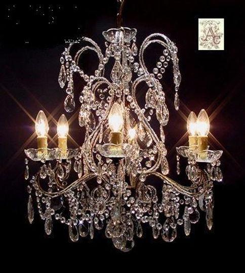 grand lustre en cristal et bronze