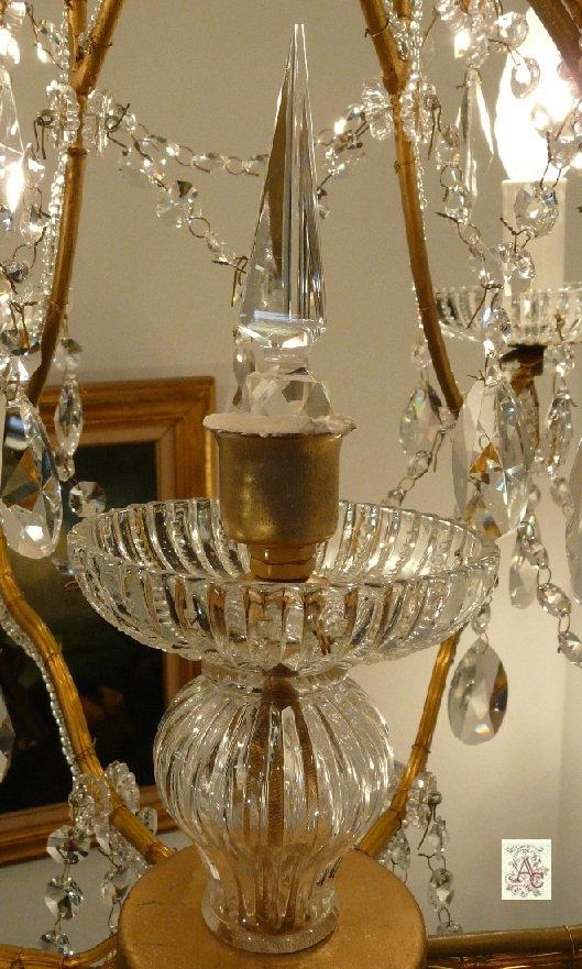 lustre poignard cristal