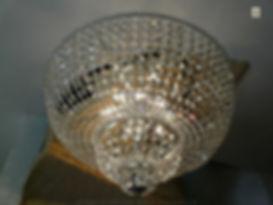 grand plafonnier avec cristaux