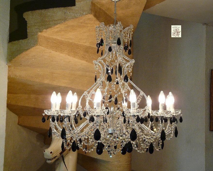 lustre en cristal pampilles