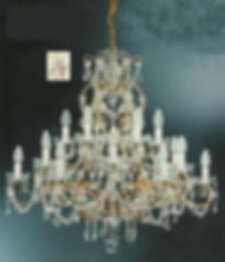 lustre 18 lumières en cristal de bohême