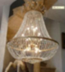 Lustre Montgolfière pampille cristal empire