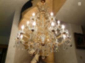 lustre baroque en cristal noir