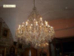 grand lustre en cristal de bohême