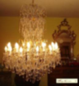 lustre à pammpilles de cristal