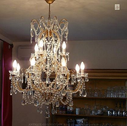 lustres à pampilles de cristal swarovski