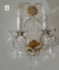 applique murale à pampilles de cristal