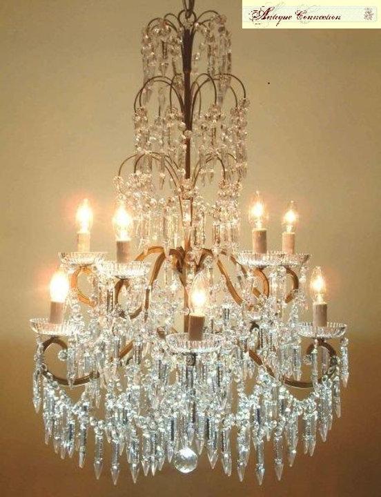 lustre à pampilles cristal