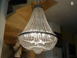 lustre montgolfière en cristal de bohême