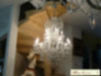 lustre en cristal à pampilles