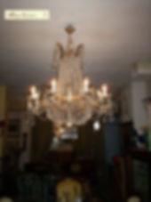 lustre motgolfière en cristal