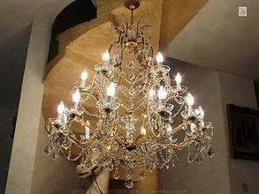 luminaire avec cristaux de baccarat