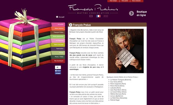 Un de nos clients: François Pralus - Maître Chocolatier primé meilleur chocolatier de Paris - certif