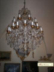 grand lustre en cristal et pampilles
