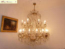 lustre à pampilles de cristal