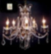lustre de chateau à pendeloque